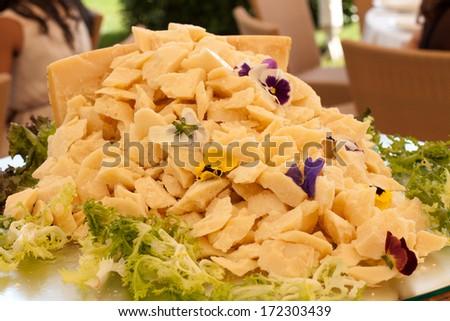 Grana cheese appetizer - stock photo