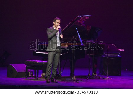 GRANADA - SPAIN, NOVEMBER 10, 2015: Aaron Goldberg trio, at 36 Granada International jazz festival. Aaron Goldberg, piano.