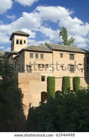Granada,Spain,the Alhambra - stock photo