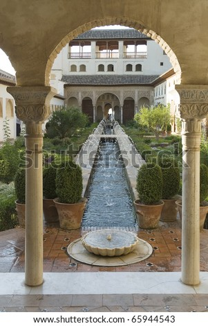 Granada,Spain,the Generalife - stock photo