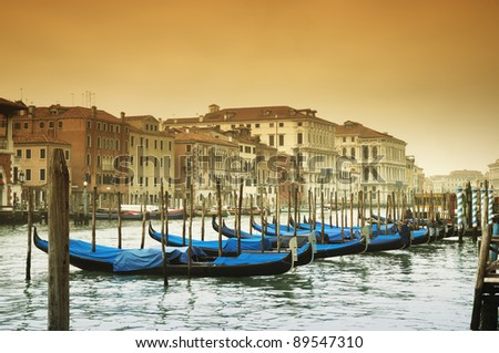 Grand Canal and gondolas