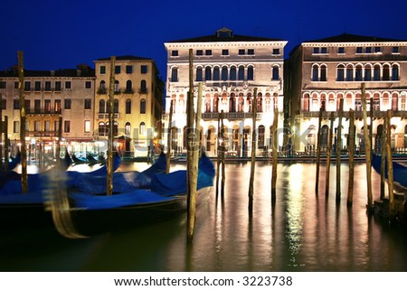 grand canal at night - stock photo