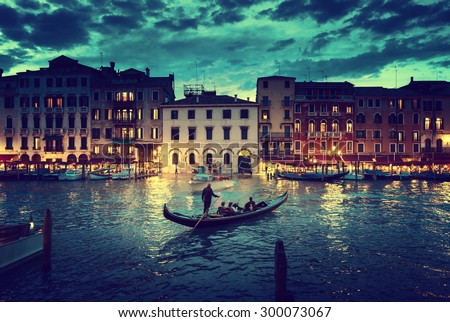 stock photo grand canal in sunset time venice italy 300073067 - Каталог — Фотообои «Венеция»