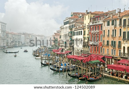 Grand canal in Venice, Italy. - stock photo