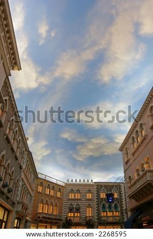 Grand Canal Shops at the Venetian Resort Hotel Casino Las Vegas Nevada USA - stock photo
