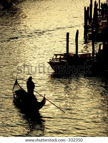 Grand Canal, Venice from the Rialto Bridge - stock photo