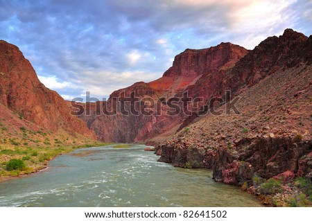 Grand Canyon and colorado river - stock photo