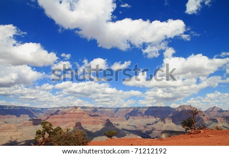 grand canyon and colorado river cloudscape, arizona, USA - stock photo