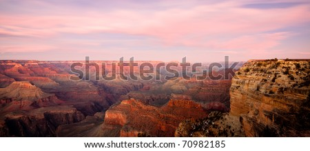 Grand Canyon at sunset - stock photo