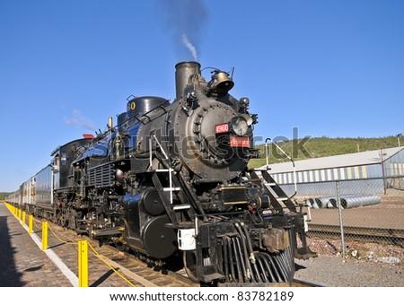 Grand Canyon Express - Steam Locomotive - stock photo