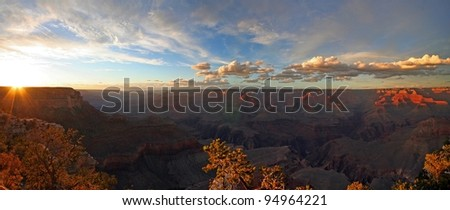 Grand Canyon from South Rim - stock photo