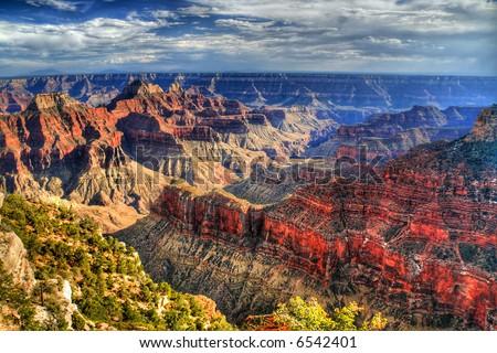 Grand Canyon. HDR image - stock photo