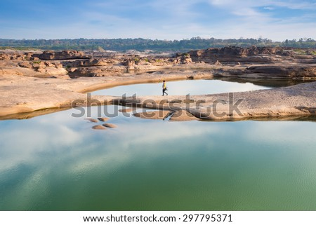 Grand Canyon in Mekong River. - stock photo