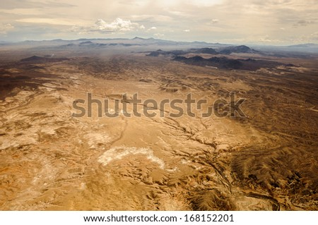 Grand Canyon lands view shooted from helicopter near las vegas - stock photo