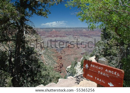 Grand Canyon Landscape at Angel Rim - stock photo