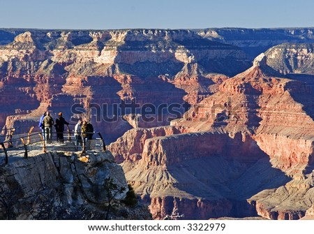 Grand Canyon Lookout - stock photo