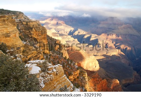 Grand Canyon National Park after Snow