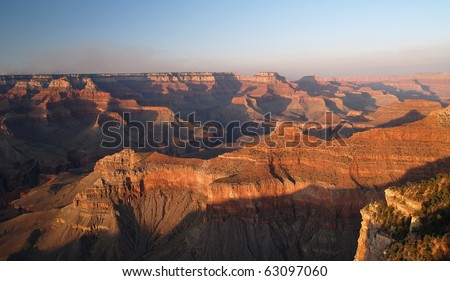 Grand Canyon National Park in the USA - stock photo