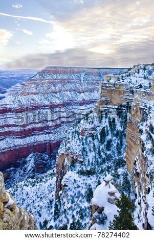 Grand Canyon National Park in winter, Arizona, USA - stock photo