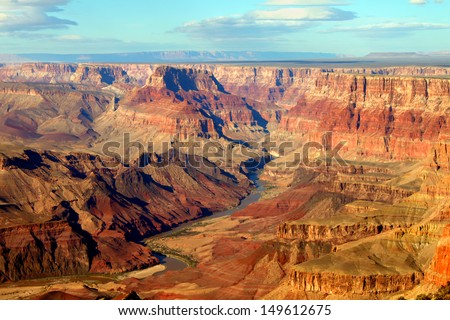 Grand Canyon National Park seen from Desert View - stock photo