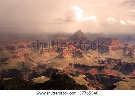 Grand Canyon National Park (South Rim), USA - stock photo