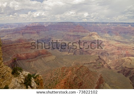 Grand canyon ocher colors
