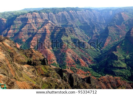 Grand Canyon of the Pacific, Hawaii - stock photo
