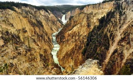 Grand Canyon of the Yellowstone, Yellowstone National Park - stock photo