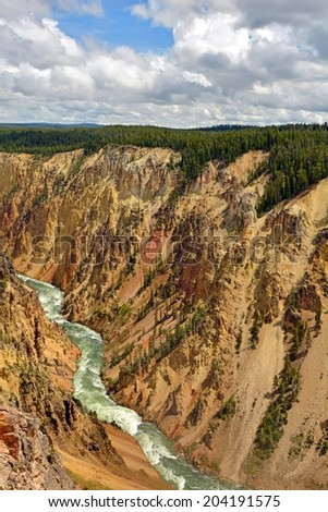 grand canyon of the yellowstone, yellowstone  national park, wyoming - stock photo
