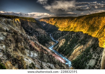 Grand Canyon of Yellowstone National Park, USA - stock photo