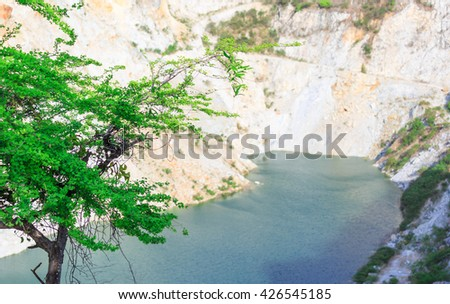 Grand canyon old mine site , Chonburi Thailand - stock photo