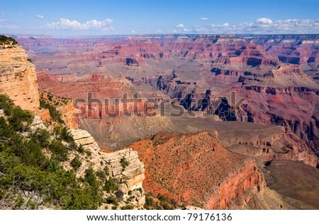 Grand Canyon on a sunny day, Arizona - stock photo