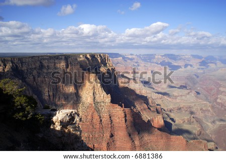 Grand Canyon on a windy spring day - stock photo