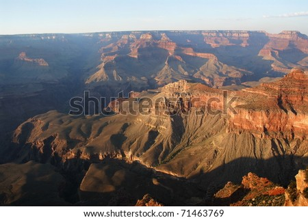 Grand canyon overview from the Mather point
