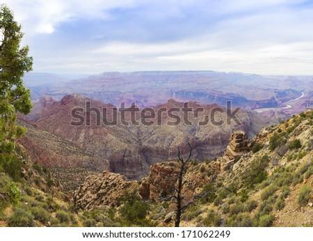 Grand Canyon Panorama - stock photo
