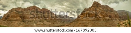 Grand Canyon Panorama USA, Nevada beautiful landscape 2013 - stock photo