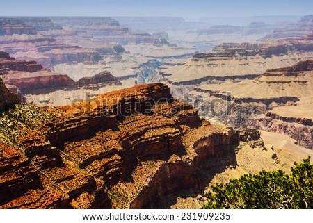 Grand Canyon scenic view in northern Arizona, USA. - stock photo
