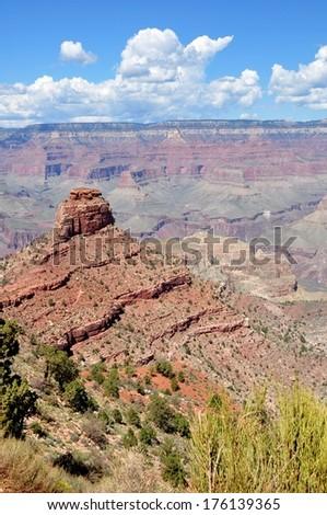 Grand Canyon South Kaibab Trail - stock photo
