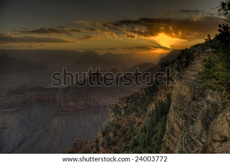 Grand Canyon Sunrise - stock photo