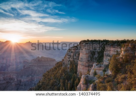 Grand Canyon sunrise, Arizona - stock photo