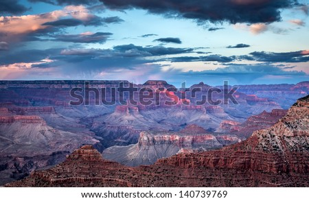 Grand Canyon Sunset - stock photo
