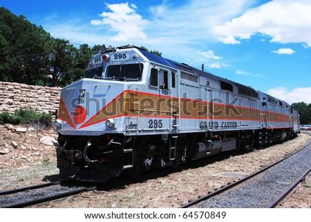 Grand Canyon train - stock photo