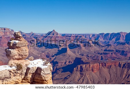 Grand Canyon view from the South Rim in winter