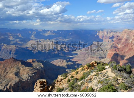 Grand Canyon vista from the South Rim, Arizona.