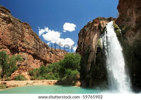 Grand Canyon waterfalls - stock photo