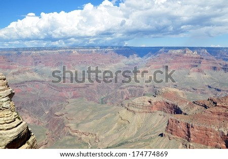 Grand Canyon with blue sky 10 - stock photo