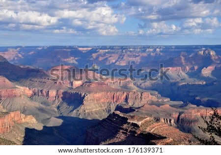 Grand Canyon with blue sky 18 - stock photo