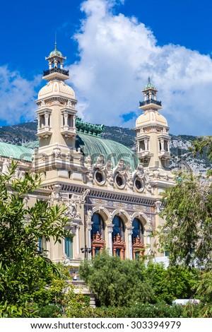 Grand casino in Monte Carlo in Monaco in a summer day - stock photo