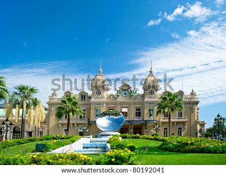 Grand Casino in Monte Carlo, Monaco. historical building - stock photo