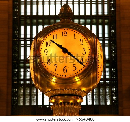 Grand Central Clock - stock photo